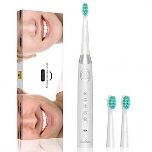 Electric Toothbrush With 5 Modes Thoroughly Cleans your teeth, Rechargeable Sonic Toothbrushes Last Up to 30 Days Battery Life, White Toothbrush with Timer recommend by Dentists Waterproof by Gloridea